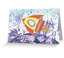 Whoosh Goes The Rocket Greeting Card