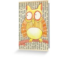 Book Owl the Wise Greeting Card