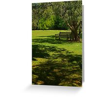 Sunny Day Under the Willow Greeting Card