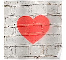 Heart on the Wall Poster