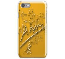 Ann- gold iPhone Case/Skin
