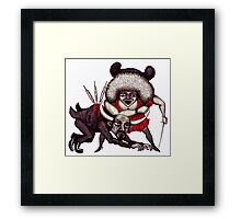 Love Corrida surreal black and white pen ink drawing Framed Print