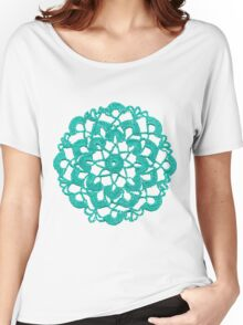 Turquoise Crochet Circle Women's Relaxed Fit T-Shirt