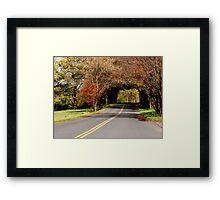 Autumn Landscape III Framed Print