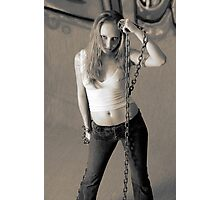 Miss Delicious Chained Photographic Print
