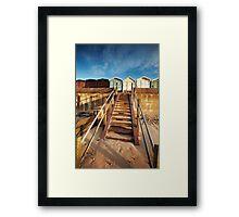 Good Morning Huts! Framed Print