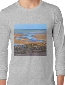Rocks on beach at low tide Long Sleeve T-Shirt