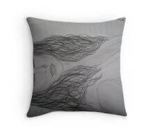 """Melinda  from """"Ghost Wisperer"""" drawing Throw Pillow"""
