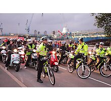 London Traffic Police Cyclists Photographic Print