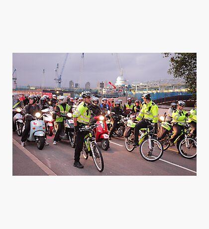 London Traffic Police Cyclists Photographic Print