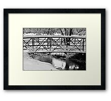 Walking Bridge and Fresh Fallen Snow Framed Print