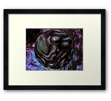 Black Fantasy and Purple Haze Framed Print