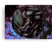 Black Fantasy and Purple Haze Canvas Print
