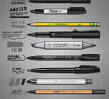 Pen Collection For Sketching And Drawing by Tom Mayer