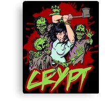 Zombies VS axe Canvas Print