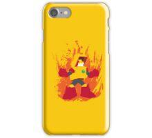 Heat Man Fiery Vector Shirt iPhone Case/Skin