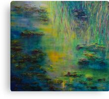 Lily Pond Tribute to Monet Canvas Print