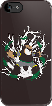Wood Man Splattery Vector T by thedailyrobot