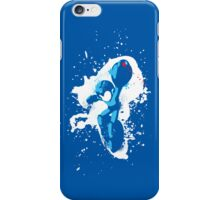 Mega Man Splattery T-Shirt iPhone Case/Skin