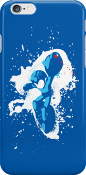 Mega Man Splattery T-Shirt by thedailyrobot