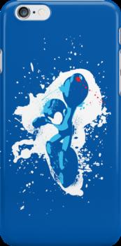 Mega Man Splattery T-Shirt by thedailyrobot