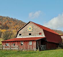 Rustic Red Barn by Kelly Nowak