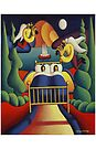 The Lovers  bed with angels by Alan Kenny