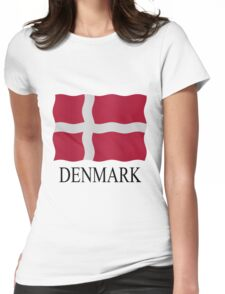 Danish flag Womens Fitted T-Shirt
