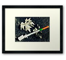 Living on the streets isn't all fun and games Framed Print