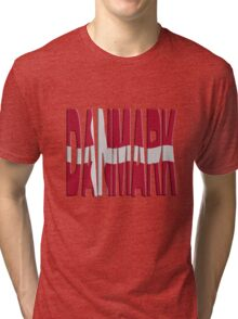 Danish flag Tri-blend T-Shirt