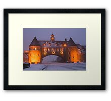 Narragansett Towers at Christmas Framed Print