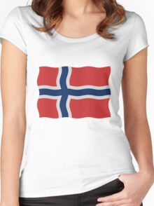 Norway flag Women's Fitted Scoop T-Shirt
