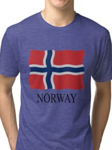 Norway flag Tri-blend T-Shirt