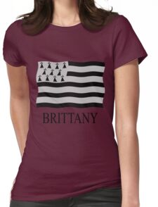 Brittany flag Womens Fitted T-Shirt