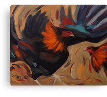 Clash - Rooster Painting Canvas Print