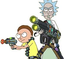 Badass rick and morty by animangle