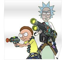 Badass rick and morty Poster