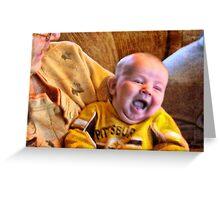 The Littlest Steelers Fan Greeting Card