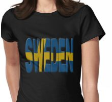 Sweden flag Womens Fitted T-Shirt