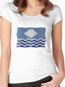 Isle of Wight flag Women's Fitted Scoop T-Shirt