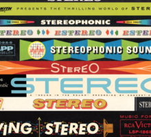 Stereo Stack Shirts & Hoodies Sticker
