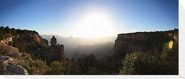 Grand Canyon Sunrise Panorama by Jem Wright