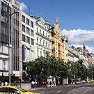 Up the Wenceslas Square till the National Museum by Ilan Cohen