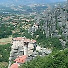 Suspended in the air monasteries in Meteora Mountains - Greece by Ilan Cohen