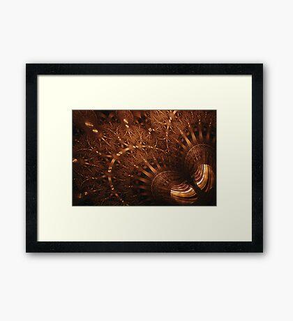 Spherical - Tiger-Eye Gem Framed Print