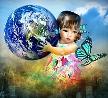 Little Girl saving the world by Svetlana Sewell