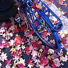 Blue bike in vivid Fall by GreenSmith