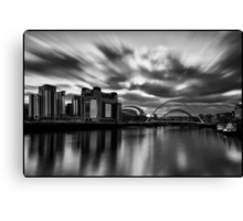 Newcastle/Gateshead Quayside Mono Long Exposure Canvas Print