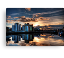 Sunset over the Tyne Canvas Print