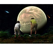 Boys Looking Over the World Photographic Print